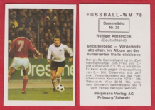 West Germany Rudiger Abramczik Schalke 04